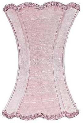 Jubilee Collection 7.25'' Silk Novelty Lamp Shade; Pink