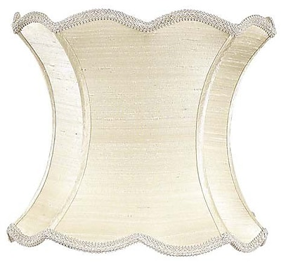 Jubilee Collection 13'' Silk Novelty Lamp Shade; Ivory