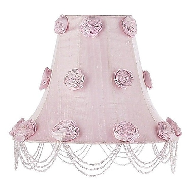 Jubilee Collection 12'' Silk Bell Lamp Shade; Pink