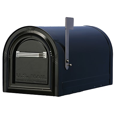 Solar Group Locking Post Mounted Mailbox; Black