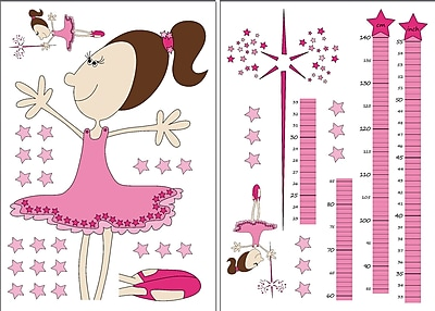 Brewster Home Fashions 39 Piece Euro Fairy Growth Chart Set