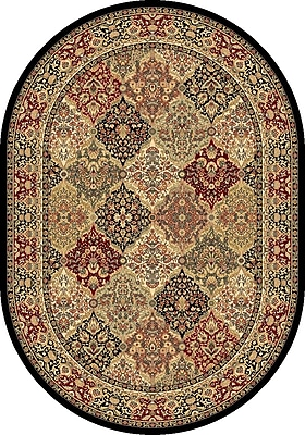 Dynamic Rugs Ancient Garden Oriental Multi Area Rug; Oval 5'3'' x 7'7''