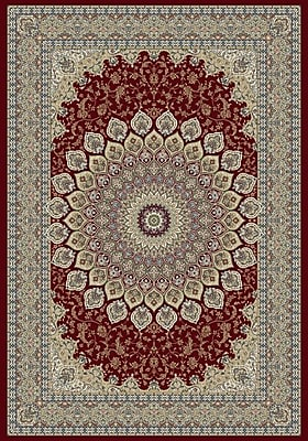 Dynamic Rugs Ancient Garden Oriental Red Area Rug; Rectangle 3'11'' x 5'7''