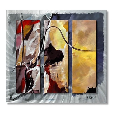 All My Walls 'Move Along' by Ruth Palmer 3 Piece Painting Print Plaque Set