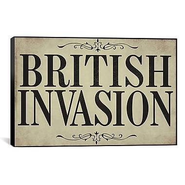 iCanvas Color Bakery British Invasion Textual Art on Canvas; 26'' H x 40'' W x 0.75'' D
