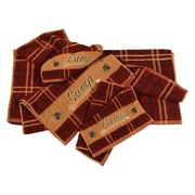 HiEnd Accents Camp Embroidered Plaid 3 Piece Towel Set