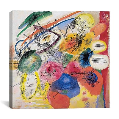 iCanvas Lines by Wassily Kandinsky Painting Print on Canvas; 37'' H x 37'' W x 1.5'' D