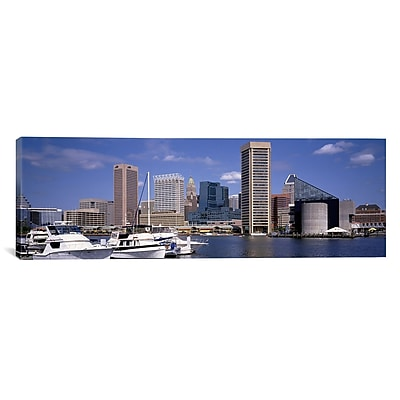 iCanvas Panoramic Baltimore, Maryland Photographic Print on Canvas; 20'' H x 60'' W x 1.5'' D