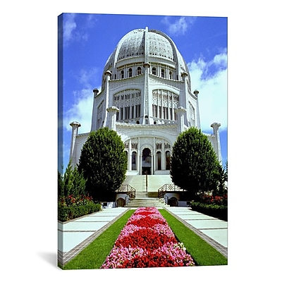 iCanvas Religion and Spirituality Bahai Temple Chicago Photographic Print on Canvas