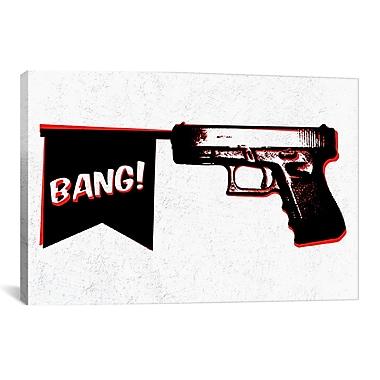 iCanvas Mugshot Bang Bang (Pistol) Graphic Art on Canvas; 8'' H x 12'' W x 0.75'' D