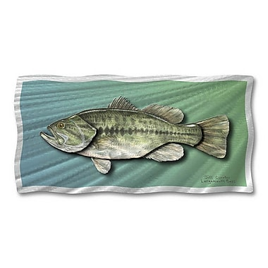 All My Walls 'Largemouth Bass' by Ash Carl Graphic Art Plaque