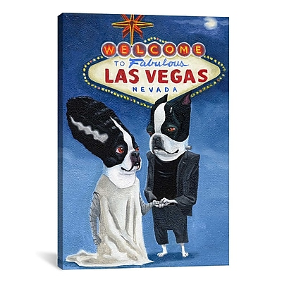 iCanvas ''BT Frank Vegas'' by Brian Rubenacker Painting Print on Canvas; 40'' H x 26'' W x 1.5'' D