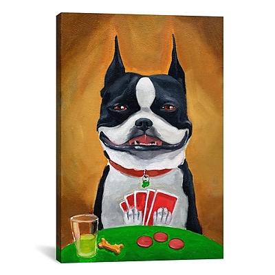 iCanvas 'BT Poker' by Brian Rubenacker Painting Print on Canvas; 40'' H x 26'' W x 1.5'' D