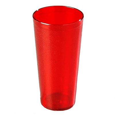 Carlisle 522410, 24 oz SAN Stackable Tumbler, Ruby
