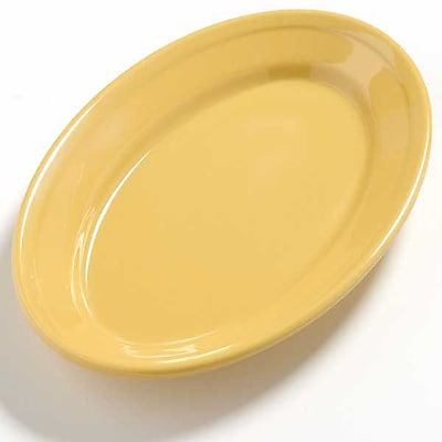 Carlisle Dayton 9.25'' x 6.25'' Oval Platter, Honey Yellow