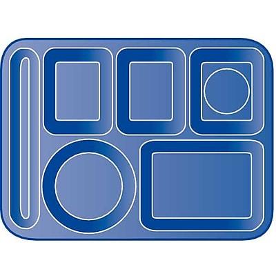 Carlisle 4398059 Melamine 6-Compartment Trays, Slate Blue