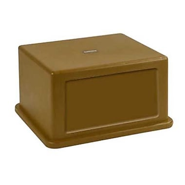 Carlisle Polyethylene Hooded Top Lid with Doors for 56 gal. Containers, Brown