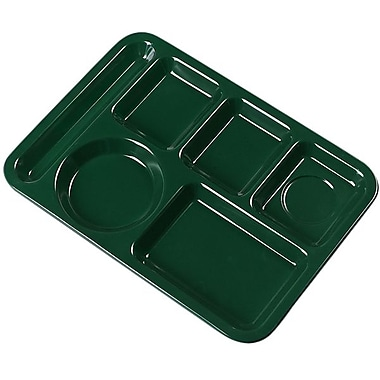 Carlisle 4398008 Melamine 6-Compartment Trays, Forest Green