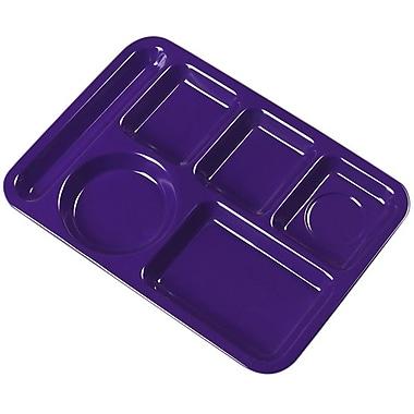 Carlisle 4398087 Melamine 6-Compartment Trays, Purple