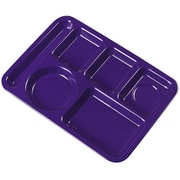 Carlisle 4398087 Melamine 6-Compartment Trays, Purple