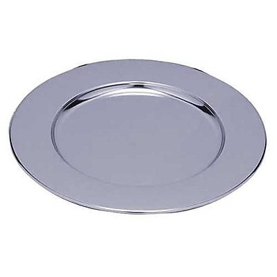 Carlisle 608924 Chrome-Plated Metal Iron Charger Plate, Silver