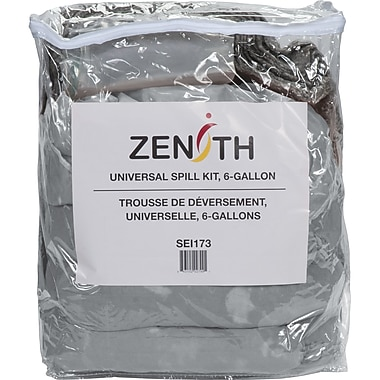 Zenith Safety 10-Gallon Eco-Friendly Truck Spill Kits, Universal, With Zip-Lock Bag, 2/Pack