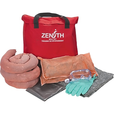 Zenith Safety 10-Gallon Eco-Friendly Truck Spill Kits, Universal, With Nylon Bag