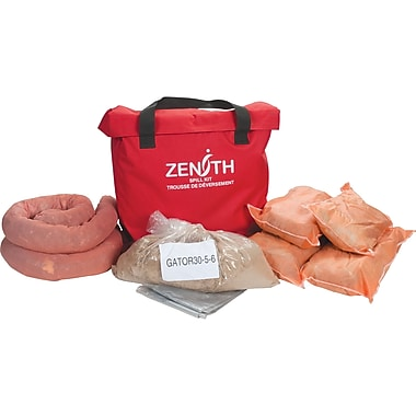 Zenith Safety 10-Gallon Service Vehicle Spill Kits, Hazmat, With Nylon Bag