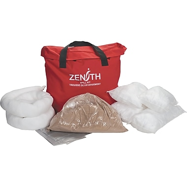 Zenith Safety 10-Gallon Service Vehicle Spill Kits, Oil Only, With Nylon Bag