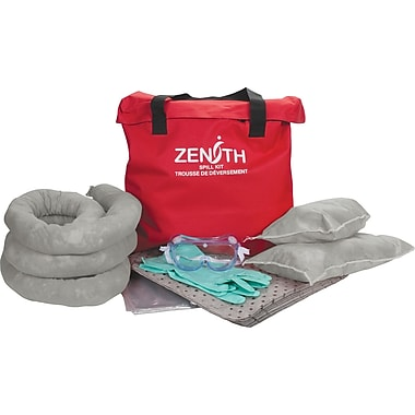 Zenith Safety 10-Gallon Truck Spill Kits, Universal, With Nylon Bag