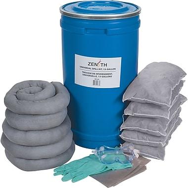 Zenith Safety – Trousses de déversement 16 gallons, universel, avec seau en polyéthylène