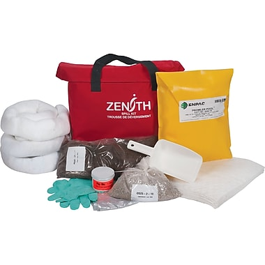Zenith Safety 17-Gallon Western Canada Spill Kits, Oil Only, With Nylon Bag