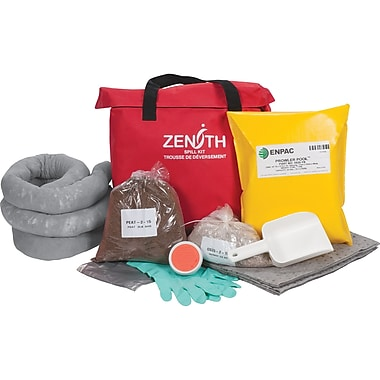 Zenith Safety 17-Gallon Western Canada Spill Kits, Universal, With Nylon Bag