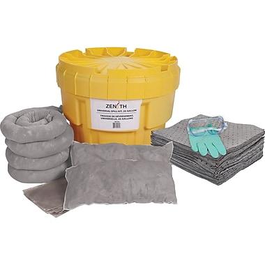 Zenith – Trousse de déversement universel, 20 gallons, avec contenant en polyéthylène