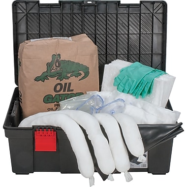 Zenith Safety 31-Gallon Tool Box Spill Kits, Oil Only, With Storage Container