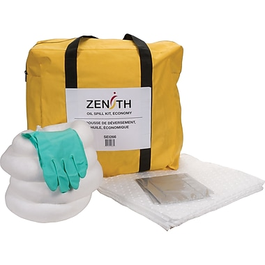 Zenith Safety 5-Gallon Economy Spill Kits, Oil Only, With Nylon Bag