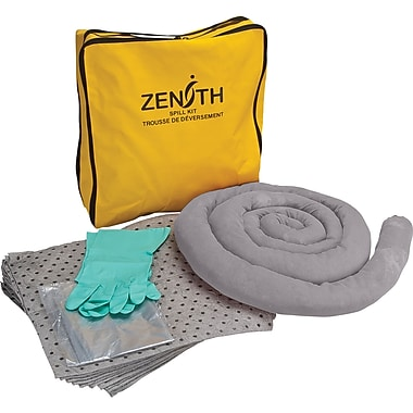 Zenith Safety 5-Gallon Economy Spill Kits, Universal, With Nylon Bag