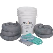Zenith Safety 5-Gallon Spill Kits, Universal, With Polyethylene Pail