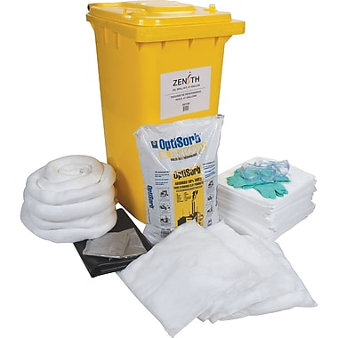 Zenith Safety 63-Gallon Mobile Spill Kits, Oil Only, With Mobile Container
