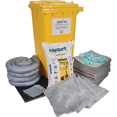 Zenith Safety – Trousses de déversement mobile, 63 gallons, universel, avec contenant mobile