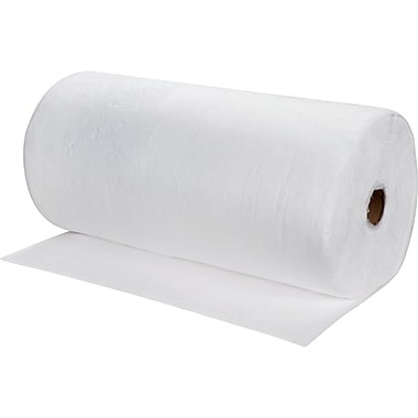 Zenith Safety Meltblown Sorbent Rolls, Oil Only, Medium, 150'L x 30