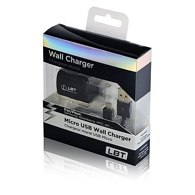 LBT - Chargeur mural à 1 ampère avec câble de données Micro USB