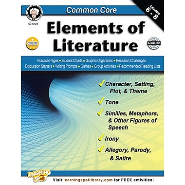 Carson-Dellosa Common Core Elements of Literature Resource Book Paperback (404215)