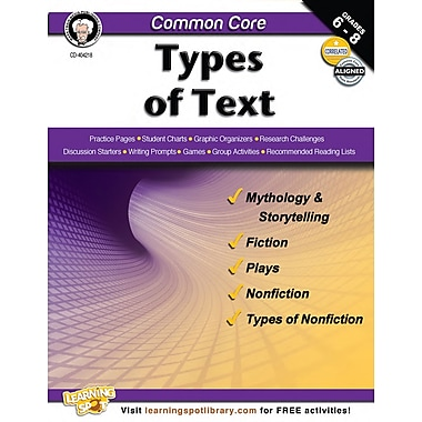Carson-Dellosa Common Core Types of Text Resource Book (404218)