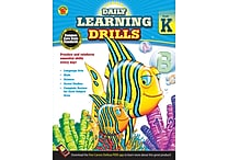 Carson Dellosa Daily Learning Drills Books, Gr K