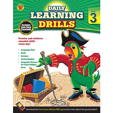 Carson-Dellosa Daily Learning Drills Books, Grade 3 (704394)