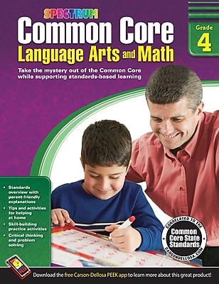 Common Core Language Arts and Math Resource Book Grade 4