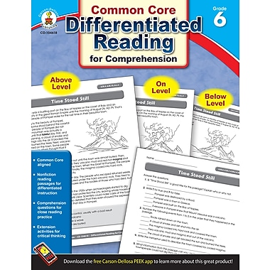 Carson-Dellosa Differentiated Reading for Comprehension Resource Book, Grade 6 (104618)