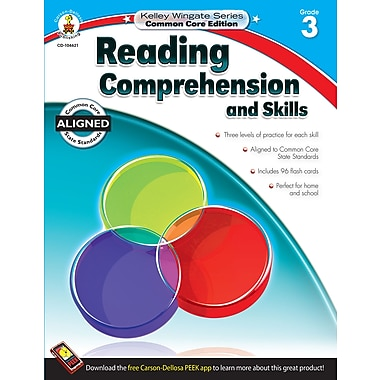 Carson-Dellosa Reading Comprehension and Skills Workbook, Grade 3 / Ages 8-9 (104621)