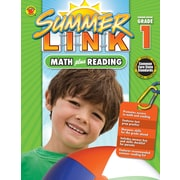 Math Plus Reading Workbook, Carson Dellosa Workbook Grades K-1